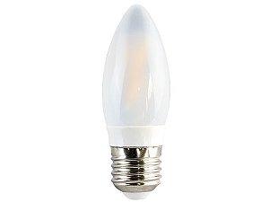 Lâmpada Vela LED FIlamento Ourolux Bivolt E27 3W 6500K (Luz Fria)