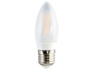 Lâmpada Vela LED FIlamento Ourolux Bivolt E27 3W 2700K (Luz Quente)