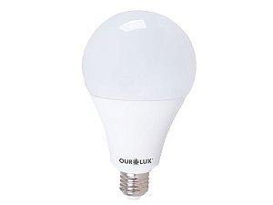 Lâmpada Bulbo LED Ourolux Bivolt 25W 6500K (Luz Fria)