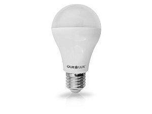 Lâmpada Bulbo LED Ourolux Bivolt 6W 3000K (Luz Quente)