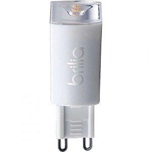Lâmpada G9 LED Brilia Bivolt 2,5W 2700K (Luz Quente)