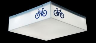 Plafon Nova Iluminação Bike Azul