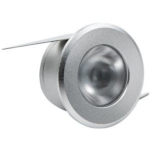 Embutido de LED Brilia para Móveis Prata Redondo 1W 2700K (Luz Quente)