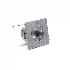 Embutido de LED Brilia para Móveis Prata Quadrado 1W 2700K (Luz Quente)