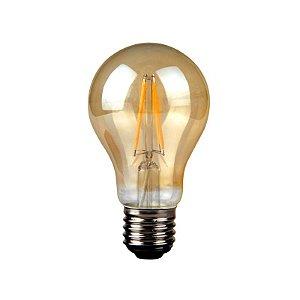 Lâmpada Bulbo LED Retrô Filamento Ecoforce Bivolt 3,5W 2200K (Luz Quente)