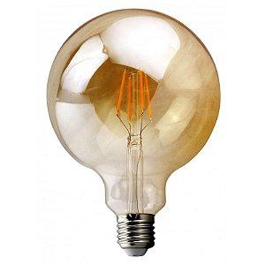 Lâmpada G125 LED Retrô Filamento Ecoforce Bivolt 3,5W 2200K (Luz Quente)