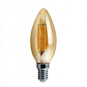 Lâmpada Vela LED FIlamento Retrô Ecoforce 3W 2200K (Luz Quente)