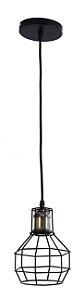 Pendente MBLED Lampião Gradeado Preto