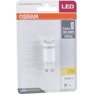 Lâmpada G9 LED Osram 2,5W 3000K (Luz Quente)