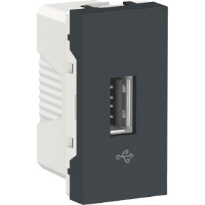Módulo Tomada USB (Conector de Dados) Schneider Orion Preto