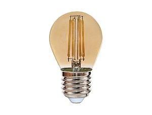 Lâmpada Bolinha LED Vintage Ourolux 2W 2400K (Luz Quente)