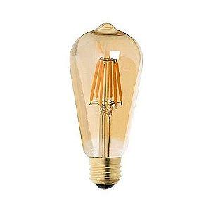 Lâmpada ST64 Vintage LED 2200K (Luz Quente)