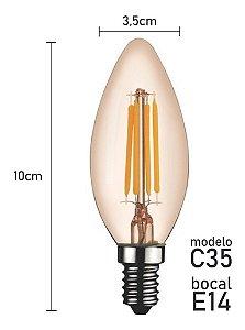 Lâmpada Vela LED Vintage MBLED 4W 2200K (Luz Quente)
