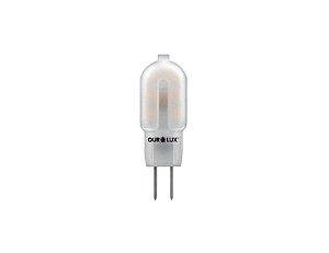 Lâmpada G4 LED Ourolux 1,2W 12V 2700K (Luz Quente)