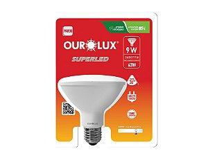 Lâmpada PAR30 LED Ourolux 9W 3000K (Luz Quente)