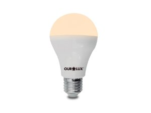 Lâmpada Bulbo LED Ourolux 9W 3000K (Luz Quente)
