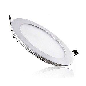Placa LED de Embutir Redonda Ourolux 24W 2700K (Luz Quente)