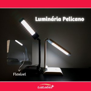 Luminária de Mesa LED Pelicano 4W 6500K (Luz Fria)
