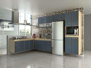Cozinha Cedro Azul - 4 Peças