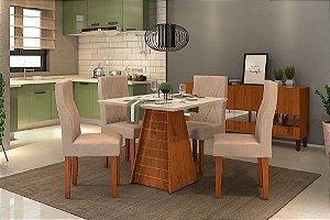 Conjunto Fler quadrada 90x90  com  cadeiras Ágata