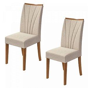 Cadeira Apogeu Bege Rovere/Linho