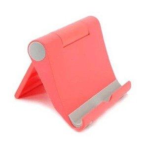Suporte de Mesa para Celular e Tablet Vermelho