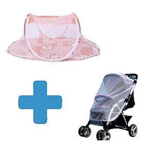 Combo Proteção - Berço Portátil + Mosquiteiro para Carrinho de Bebê
