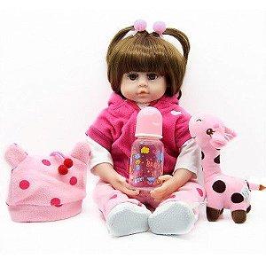 Boneca Bebê Reborn Realista Silicone e Algodão 48 cm Pronta Entrega Casaquinho