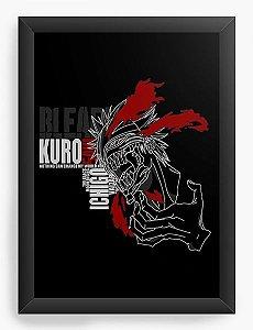Quadro Decorativo A4(33X24) Anime  Bleach Hollow Ichigo