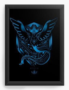 Quadro Decorativo A4(33X24) Anime Team Mystic
