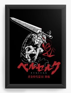 Quadro Decorativo A4(33X24) Anime  Berserk