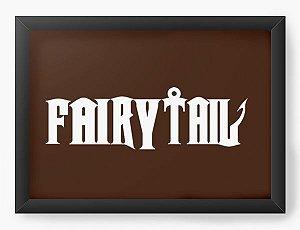 Quadro Decorativo A4(33X24) Anime Fairy Tail