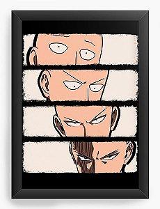 Quadro Decorativo A4(33X24) Anime One Punch Transformation