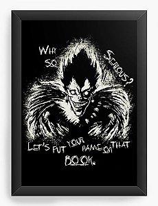 Quadro Decorativo A4(33X24) Anime Death Note Ryuk x Joker