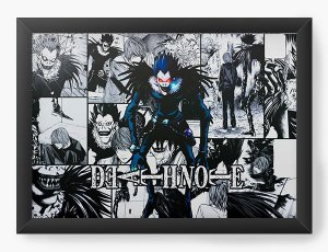 Quadro Decorativo A4(33X24) Anime Death Note   Ryuk