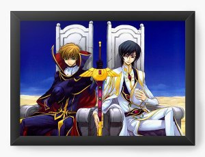Quadro Decorativo A4(33X24) Anime Code Geass Troun