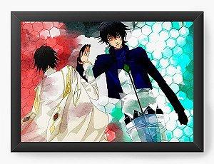 Quadro Decorativo A4(33X24) Anime Code Geass Lelouch Lamperouge