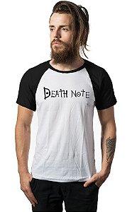 Camiseta Anime Raglan Death Note