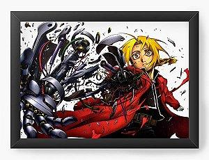Quadro Decorativo A4(33X24) Anime Fullmetal Alchemist Edward