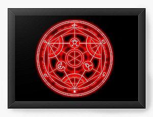 Quadro Decorativo A4(33X24) Anime Fullmetal Alchemist Mangá