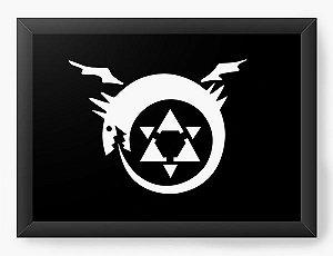 Quadro Decorativo A4(33X24) Anime Fullmetal Alchemist Symbol