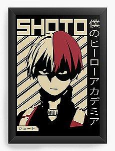 Quadro Decorativo A4(33X24) Anime My Hero Academia Shoto Todoroki