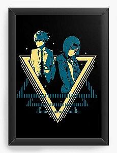 Quadro Decorativo A4(33X24) Anime Goro and Ichigo - Darling in the Franxx