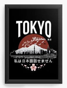 Quadro Decorativo A4(33X24) Anime Tokyo - 'I don't speak Japanese