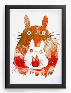 Quadro Decorativo A4(33X24) Anime  Totoro and Mini Totoros