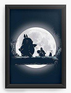 Quadro Decorativo A4(33X24) Anime Totoro Hakuna Matata