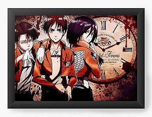 Quadro Decorativo A4(33X24) Anime Attack on Titan Série
