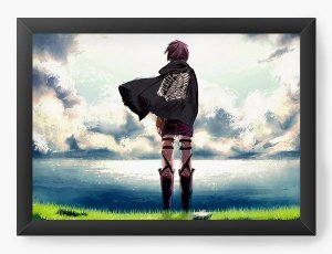 Quadro Decorativo A4(33X24) Anime Attack on Titan  Landscape