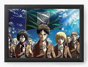 Quadro Decorativo A4(33X24) Anime Attack on Titan  Warriors