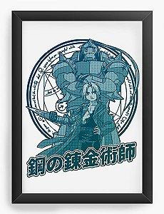 Quadro Decorativo A4(33X24) Anime  Fullmetal Edward